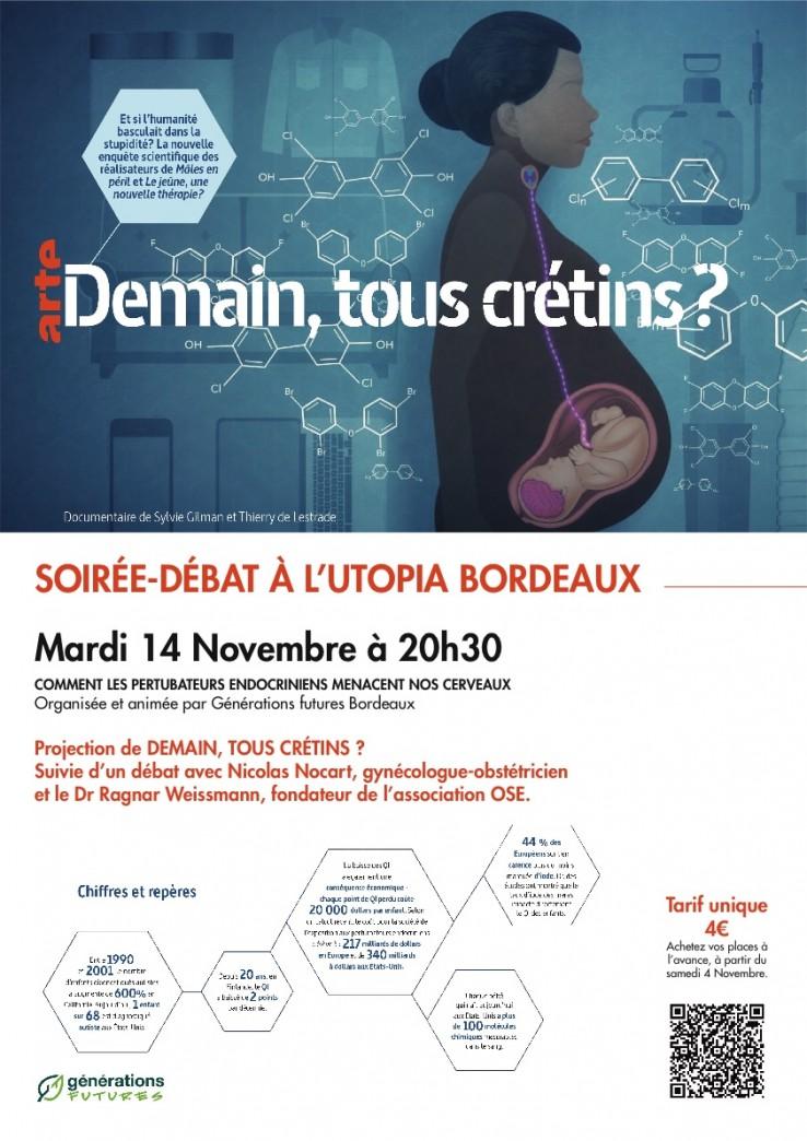 Affiche web projection-débat Utopia Demain tous crétins ?